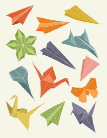 Origami and paper cranes